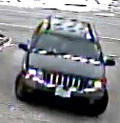 A Jeep Grand Cherokee that is thought to have been used as the getaway vehicle after the murder of Mila Barberi, 28, on Tuesday, March 14, 2017.