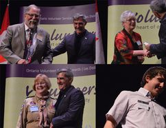 From top left, clockwise: Richard Lynn, with New Beginnings, Karen Kirkwood-Whyte, with the Rotary Club of Chatham, Andrew Vancoillie, with the Sombra Township Museum, and Elizabeth Derynck, with Scouts Canada, were all honoured at the award ceremony. Overall, 173 people from Chatham-Kent were recognized for their work locally. Louis Pin/Postmedia Network