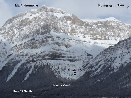 Mt Hector avalanche via Parks Canada