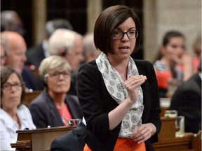 NDP MP Niki Ashton asks a question during Question Period in the House of Commons in Ottawa on Thursday, June 4, 2015. THE CANADIAN PRESS/Sean Kilpatrick