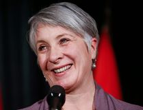 Patty Hajdu, minister of Employment, Workforce Development and Labour, speaks to reporters at a Liberal cabinet retreat in Calgary, Monday, Jan. 23, 2017. THE CANADIAN PRESS/Jeff McIntosh