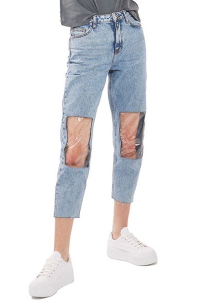 "Nordstrom now sells bizarre ""Clear Knee Mom Jeans."""