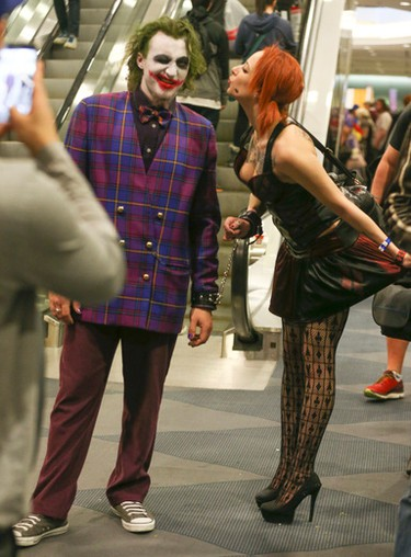 The Joker and his girlfriend Harley Quinn at Toronto Comicon 2017 held at the Metro Toronto Convention Centre until Sunday on Saturday March 18, 2017. Jack Boland/Toronto Sun/Postmedia Network