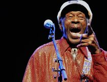 This file photo taken on April 15, 2013 legendary U.S. singer and composer Chuck Berry, one of the pioneers of rock-and-roll, performing during a concert in Montevideo, Uruguay. PABLO PORCIUNCULA/AFP/Getty Images