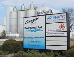 The BioAmber plant in Sarnia is shown in this file photo. The company is considering building a second, larger plant in either Sarnia or Louisiana, and has been seeking a U.S. loan guarantee from a U.S. Department of Energy program President Donald Trump wants to eliminate. (Paul Morden/Sarnia Observer)