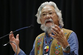 Environmentalist  David Suzuki is pictured while speaking at a climate change conference in Winnipeg in November 2016. (THE CANADIAN PRESS)