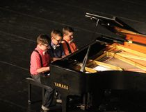 Isaac, Eli and Ezra Friedt performed at the Highlights Concert on Friday, March 17.