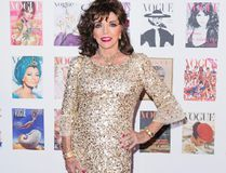 Joan Collins arrives for the Gala to celebrate the Vogue 100 Festival at Kensington Gardens on May 23, 2016 in London, England. (Photo by Jeff Spicer/Getty Images)