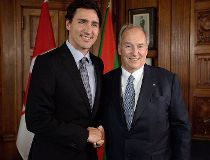 Prime Minister Justin Trudeau meets with the Aga Khan