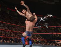World Wrestling Entertainment superstar and Montreal native Sami Zayn in action versus fellow Canadian Chris Jericho. (Courtesy World Wrestling Entertainment)