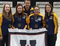The Laurentian Voyageurs women's curling team won the national university title in Thunder Bay on Wednesday afternoon.