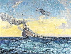 Minesweepers, Halifax, 1919, by Arthur Lismer