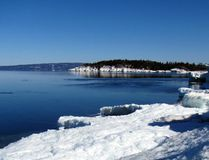 Even though spring has arrived, ice still dominates the Lake Superior shoreline at Montreal River Harbour, north of Sault Ste. Marie. RUTH FLETCHER/SPECIAL TO THE STAR