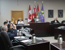 <p>Cornwall city councillors vote to defer passing the 2017 tax budget on Thursday March 23, 2017 in Cornwall, Ont.</p><p> Alan S. Hale/Cornwall Standard-Freeholder/Postmedia Network