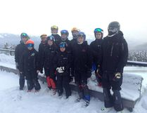 Members of the Fort McMurray Ski Club pose together during North Zone Regional Finals this past weekend in Jasper. Photo supplied/FMSC