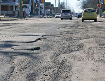 Several North Bay city streets are plagued with potholes at this time of year. Do you have a street with a pothole(s) you try to avoid at all costs? Let us know about it. Send a large-format .rgb, .jpg photograph to nbay.news@sunmedia.ca and perhaps it will catch the attention of the city's roads department. Jennifer Hamilton-McCharles / The Nugget