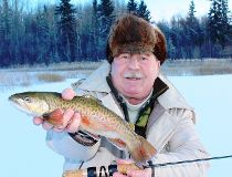 Neil with an Alberta tiger trout