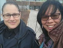 Photo supplied Aboriginal liaison officer Shannon Agowissa, left, and Lisa Osawamick, Aboriginal women violence prevention coordinator, are spearheading an initiative through Greater Sudbury Police to raise awareness and protect First Nations women and girls from harm.