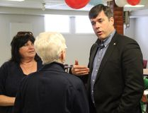 Conservative leadership Candidate Pierre Lemiuex speaks to supporters at a campaign stop in Cornwall on Saturday. Alan S. Hale/Cornwall Standard-Freeholder