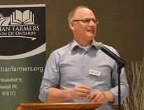 Louis Pin // Chatham-Kent This Week Clarence Nywening, president of the Christian Farmers Federation of Ontario, was in Chatham March 24 for the local district's Annual General Meeting. Though he and many farmers are frustrated with recent provincial regulations he says there are positive initiatives being put in place by Ontario farmers to strengthen their industries -- and their communities.