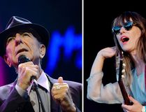 Leonard Cohen performs at the Auditorium Stravinski during the 47th Montreux Jazz Festival on July 5, 2013. (AFP PHOTO / FABRICE COFFRINI) and Feist performs at the Oya music festival in Oslo, on August 8, 2012. (AFP PHOTO / SCANPIX NORWAY / Stian Lysberg Solum)