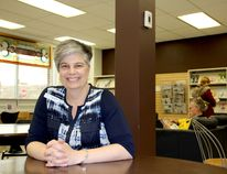 Tania Sharpe, CEO and chief librarian, is shown at the Chatham branch on Monday. The Chatham-Kent Public Library will soon have community resource advisors on hand to assist at-risk, low-income and vulnerable residents. (Trevor Terfloth/The Daily News)