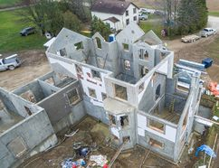 The all-concrete home that is being built in Oxford County in the middle of its construction. (Submitted)