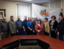Submitted photo MP Mike Bossio presented nearly $120,000 in federal funding for the Eastern Ontario Trails Alliance in Tweed. The funds will be used to improve recreation trails in the region.