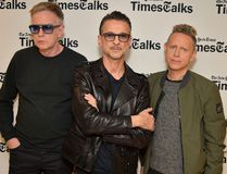 Andy Fletcher, Dave Gahan and Martin Gore attend TimesTalks Presents Depeche Mode at Jack H. Skirball Center for the Performing Arts on March 8, 2017 in New York City. (Theo Wargo/Getty Images)