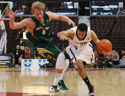 Carleton University Ravens' Philip Scubb gets fouled by University of Alberta star Jordan Baker during their semi-final game at the national university men's basketball championship in Ottawa in 2014. Baker, who also shone as a high school athlete at Harry Ainlay, is bringing back an all-star showcase for up-and-coming players. Errol McGihon, Postmedia Network