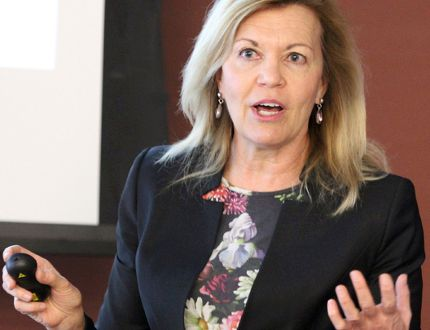Ontario patient ombudsman Christine Elliott speaks to health-care officials and stakeholders Wednesday morning at Sault Area Hospital. Her Northern Ontario tour also includes stops in Sudbury, North Bay and Espanola. JEFFREY OUGLER/SAULT STAR