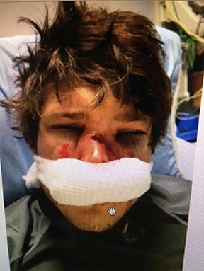A photo of Ryan Cox taken in the hospital. Submitted photo