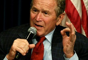 For his part, George W. Bush - enjoying a renaissance of sorts - has been careful not to criticize Trump despite people like Jimmy Kimmel baiting him. (GETTY IMAGES/PHOTO)