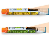 Pfizer Canada is recalling EpiPen auto-injectors with an expiry date of May 2017, top, and EpiPen Jr. auto-injectors with an expiry date of March 2017. (Handout photos)