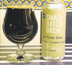 No Porter Given is a dark beer with a coffee flavour.