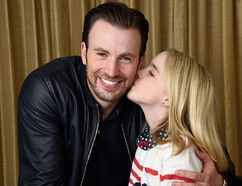 "In this March 23, 2017 photo, Chris Evans, left, and Mckenna Grace, cast members in the film ""Gifted,"" pose for a portrait at the Four Seasons Hotel in Los Angeles. (Photo by Chris Pizzello/Invision/AP)"