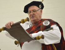 Dave Phillips has been the town crier in Dutton Dunwich for decades. It was only right he read a part of Canada's history before the kickoff of Dutton Dunwich's Canada 150 celebrations.