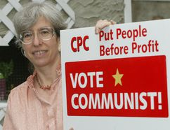 Noami Rankin, Alberta's Communist Party leader, says the province's NDP is moving to the right. File photo.