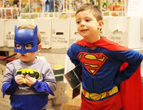 Ian Teskey, 2, and Max Teskey, 5, are shown in this file photo attending last year's Sarnia Pop Culture Show. This year's show is set for Sunday at the Point Edward Memorial Arena. (File photo/Sarnia Observer)