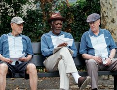 "Alan Arkin, Morgan Freeman and Michael Caine star in ""Going in Style."" (Handout)"