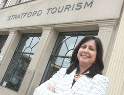 Executive director Kristin Sainsbury is shown outside the Stratford Tourism Alliance office in this Beacon Herald file photo from April 2016. Sainsbury has resigned from the alliance just over one year after being hired. (Scott Wishart/Beacon Herald/Postmedia Network)