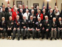 PAUL KRAJEWSKI HIGH RIVER TIMES/POSTMEDIA NETWORK. Former members of the army, navy, air force, reserves and RCMP attended the High River Legion Veteran's Luncheon on April 9 to commemorate the 100th anniversary of the Battle of Vimy Ridge.