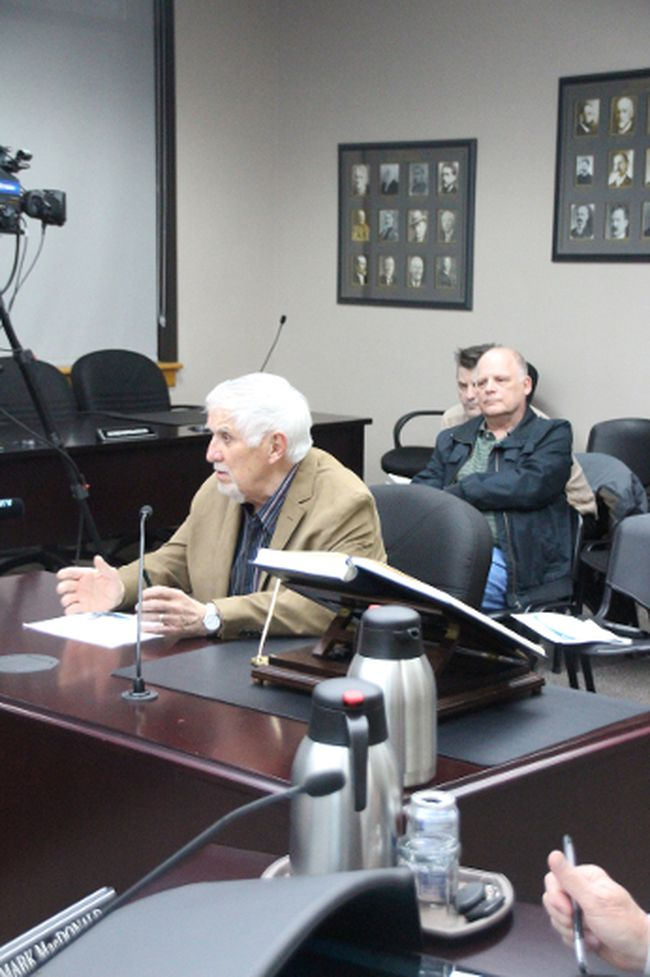 Rod Millard was one of nine members of the public who came to a special meeting of city council on Monday to voice their opposition to adopting a ranked ballot election system. Alan S. Hale/Cornwall Standard-Freeholder