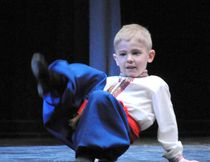 One of the younger dancers shows his stuff during the recital at LP Miller School on Saturday, April 9.