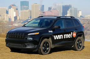 The 2017 Jeep Cherokee Sport up for grabs