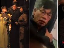 (L to R) Dao seen performing on YouTube. Dao bloodied following the United Airlines incident. Dao playing poker.