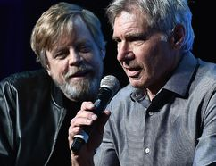 Mark Hamill and Harrison Ford attends the Star Wars Celebration Day 1 on April 13, 2017 in Orlando, Fla. (Gustavo Caballero/Getty Images)