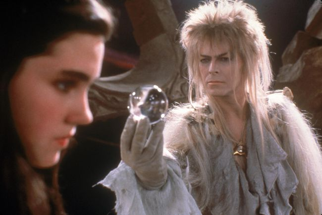 "Jennifer Connolly (left) and David Bowie in ""Labyrinth."" (HO)"