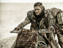 """This file photo released by Warner Bros. Pictures shows Tom Hardy, as Max Rockatansky, in a scene from, """"Mad Max:Fury Road."""" (Jasin Boland/Warner Bros. Pictures via AP, File)"""