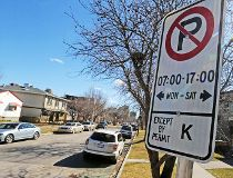 residential parking sign